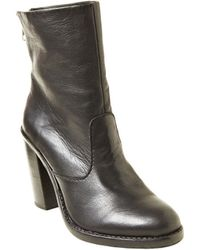 Steve Madden San Jose Leather Ankle Boots - Lyst
