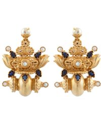 Kastur Jewels - Heritage Blue Lapis & Pearl Earrings - Lyst