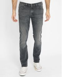 Wrangler | Charcoal Bostin Faded Slim-fit Jeans | Lyst