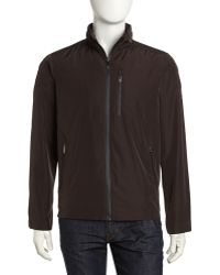 Tumi - Ttech Hooded Water Resistant Jacket Coffee - Lyst
