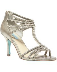 Betsey Johnson Sb Rock Crystallized Synthetic Pumps - Lyst