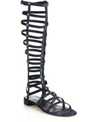 Stuart Weitzman | Tall Denim Gladiator Sandals | Lyst