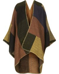 Topshop Womens Blanket Stitch Cape Multi - Lyst
