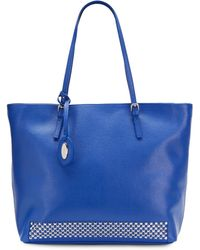Furla Studded Leather Shoulder Bag - Lyst