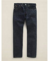 Ralph Lauren Low Straight Once-Washed Denim - Lyst