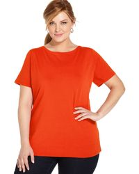 Jones New York Collection Plus Size Short-sleeve Tee - Lyst