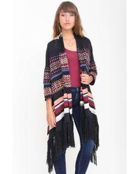 Goddis Holden Jacquard Fringe Sweater multicolor - Lyst