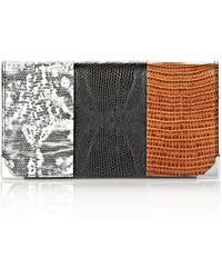Alexander Wang Prisma Skeletal Long Compact In Embossed Tri-Color With Rhodium - Lyst