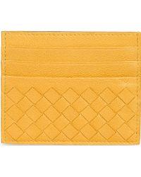 Bottega Veneta Woven Card Holder Wallet - Lyst