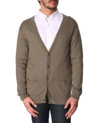 Lacoste Brown Cardigan - Lyst