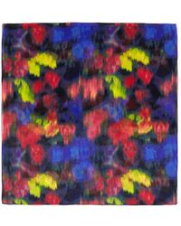 St. John - Abstract Ikat Print Silk Scarf - Lyst