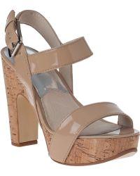 MICHAEL Michael Kors | Ivana Patent-Leather Platform Sandals | Lyst