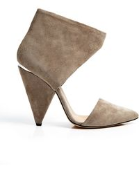 Iro Grey Suede Cut Out Heel - Lyst