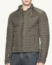Ralph Lauren Black Label Quilted Racer Jacket  Slim Fit - Lyst