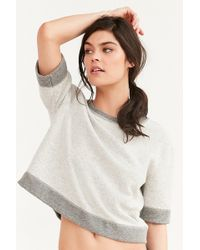 Truly Madly Deeply - Daphne V-back Cropped Sweatshirt - Lyst