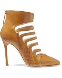 Chelsea Paris - Adile Cutout Leather Boots - Lyst