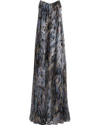 Amanda Wakeley Featherprint Strapless Maxi Dress - Lyst