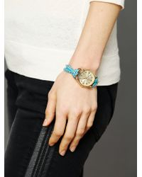 Sara Designs - Studded Watch Bracelet - Lyst