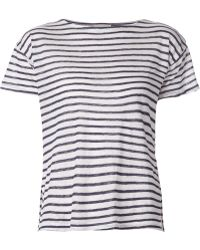 Band of Outsiders Striped T-Shirt - Lyst