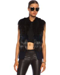 Yigal Azrouel Fox Fur Vest - Lyst