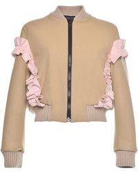 MSGM | Wool Felt Bomber Jacket | Lyst