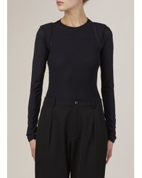 Maison Margiela | black Cap Sleeve Body Suit | Lyst