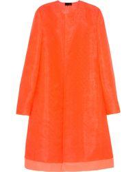 Fendi Orange Organza Coat - Lyst