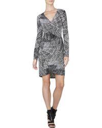 BCBGMAXAZRIA Aloysha Faux-Wrap Tulip-Skirt Dress - Lyst