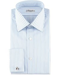 Charvet Striped Frenchcuff Dress Shirt Bluewhite - Lyst