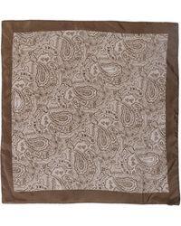 John Galliano Brown Square Scarf - Lyst