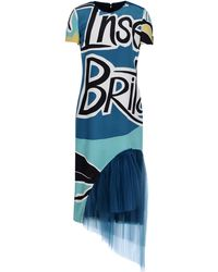 Burberry Prorsum 3/4 Length Dress multicolor - Lyst