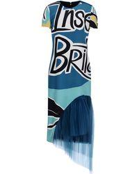 Burberry Prorsum 3/4 Length Dress multicolor - Lyst