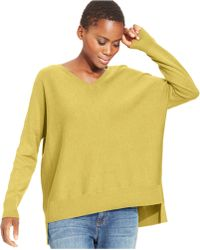 Eileen Fisher High-Low Wool Tunic Sweater - Lyst