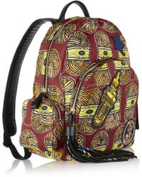 Atelier Vlisco  Leather-trimmed Printed Canvas Backpack - Lyst