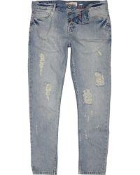 River Island Light Wash Flynn Skinny Jeans - Lyst