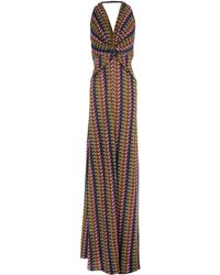 Issa Brown Long Dress - Lyst