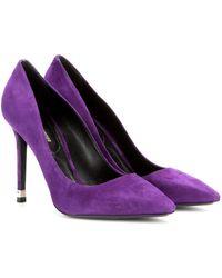 Nicholas Kirkwood Purple Suede Pumps - Lyst