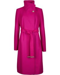 Ted Baker - Belted Wrap Coat - Lyst