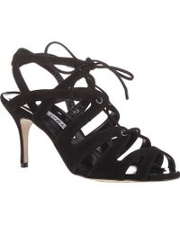 Manolo Blahnik Netochka Caged Sandals - Lyst