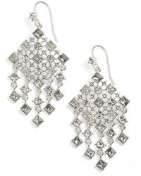 Lauren by Ralph Lauren - Square Stone Drop Earrings - Lyst
