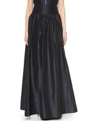 Rebecca Taylor Silk Taffeta Skirt - Navy - Lyst