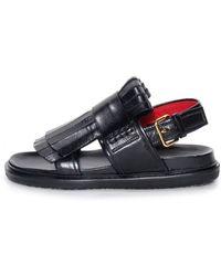 Marni Fussbett Carbon Sandal black - Lyst