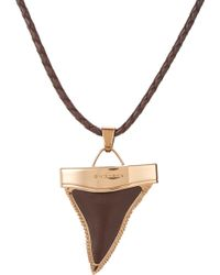 Givenchy - Braided Leather Bolo Tie Necklace With Shark'S Tooth Pendant - Lyst