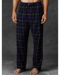 Polo Ralph Lauren Plaid Flannel Sleep Pant - Lyst