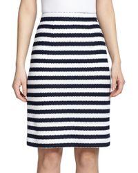 Diane von Furstenberg Walda Striped Cotton Pencil Skirt - Lyst