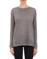 Barneys New York Slub Jersey Long-Sleeve T-Shirt - Lyst