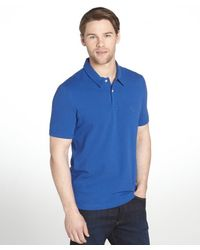Burberry Brit Bright Cobalt Cotton Polo Shirt - Lyst
