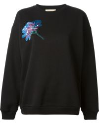 Christopher Kane Embroidered Tulip Sweatshirt - Lyst
