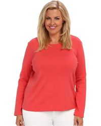 Pendleton Plus Size Ls Jewel Neck Cotton Rib Tee - Lyst
