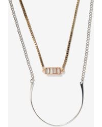 Nasty Gal Layer Slayer Double-Strand Necklace - Lyst